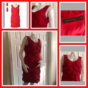 The Limited Red Ruched Dress 12